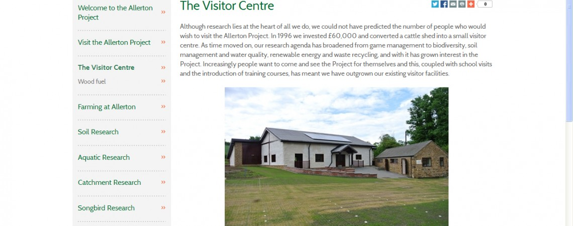 One Year On – Allerton Visitor Centre